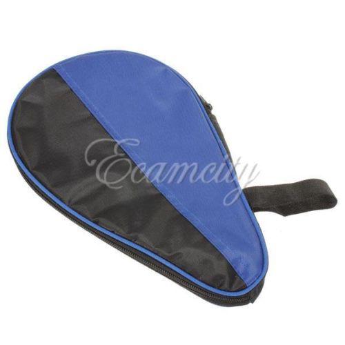 Free Shipping New Waterproof nylon Table Tennis Racket Ping Pong Paddle racquet Bat Bag Pouch Ball Bag Case BlackBlue Wholesale(China (Mainland))