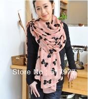 2013 NEW HOT Fashion trendy Cozy women ladies Noble women's scarf shawl neckerchief muffle Exquisite designs Black bow
