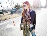 2013 NEW HOT Fashion trendy Cozy women ladies Noble women's scarf shawl neckerchief muffle designs Leopard
