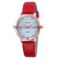 2013 new product fashion ladies leather belt watch