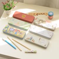 2 brief korea stationery pencil box tin pencil case pencil case