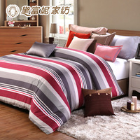100% slanting stripe cotton reactive print duvet cover double chromophous 200 230cm1 . 5 meters 1.8 meters bed  Free Shipping
