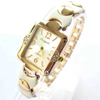 2013 brand new 10pcs Fashion round& square face Lady Girls women Quartz Dress Watch crystal bracelet wristwatches Party Xmas c45