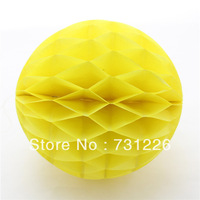 "120pcs 8"" Lovely Yellow Honeycomb Ball Lanterns Fun to Assemble and Instantly Transform Wedding Room or garden Free Shipping"
