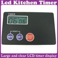 5 pcs/Lot_Ultrathin Digital LCD Kitchen Magnet Mount Buzzer Timer