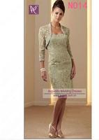 AML3292 Elegant  Knee Length  Lace Mother Of The Bride Dress