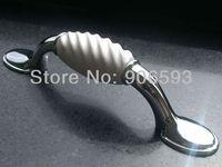 12pcs lot free shipping white porcelain wavy cabinet handle\porcelain handle\drawer handle\furniture handle