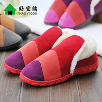 Winter cotton-padded package with slippers platform shoes lovers warm home slippers wool slippers