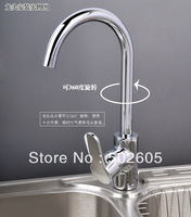 Dual temperature kitchen faucet, copper kitchen basin tap, hot and cold two temperatures, can rotate 360 degrees