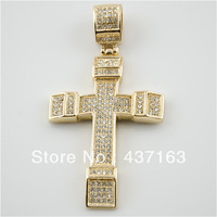 Iced Out Jesus Cross Pendant Hip Hop Fashion Jewelry (size:3.3inch X 1.5inch)