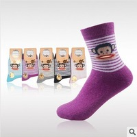 Free shipping 2013 new design  Hip hop monkey of women/girls rabbit woolsocks SK-NO072