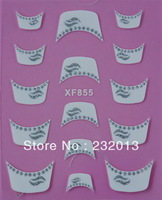 Factory Wholesale Adhesive 3D French Lip Design Nail Art Sticker Decal Patch Decoration Makeup XF855 Free Shipping