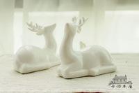 zakka white ceramic deer ornaments both very fairy tail single ceramic jewelry rack