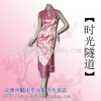 The dishui han and tang dynasties sleeveless print long Qipao fw010026-p tang suit formal dress women's skirt