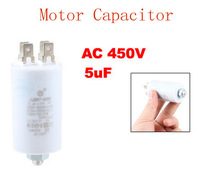 Washing Machine Washer 5uF AC 450V Motor Run Capacitor White 2pcs