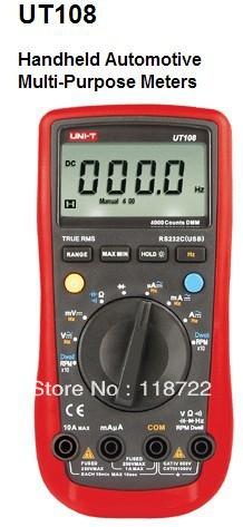 UNI-T UT108 Auto Ranging Automotive Multimeters(China (Mainland))