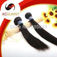 XCSUNNY 5A Unprocessed 12-26 inch 2pcs Straight 100% Malaysian Virgin Remy Human Hair Weft Weave 100g/pcs MVH018