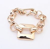 C120 NEW 2014 Fashion hollow chain plated gold charm bracelet for women