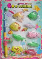 Toy magnetic fishing Large fish in bulk fishing rod net bag 6951