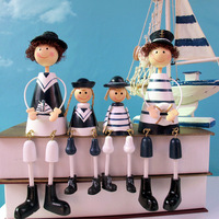 Rustic home decoration doll decoration set navy  as Christmas/Birthday gift Free shipping