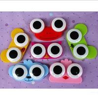 Free ship!12set! Cute animal head contact lenses box / double-box / invisible eye pupil care case