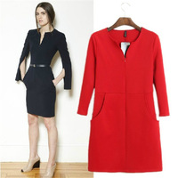 Fashion women's 2013 one-piece dress autumn and winter slim skirt slim hip skirt step elegant medium skirt ol
