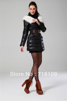 Hot Sale  Women Vogue Vintage Chic Cotton Long Sleeve Long Hooded Dust Coat Jacket Cape with Belt  free shipping