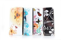 For Nokia Lumia 625 PU flower flip leather case !hot sale!