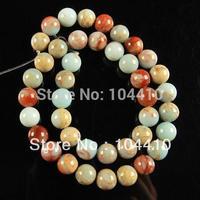 10mm New Fashion Jewelry Snake Skin Jasper Serpentine stone Round Ball Loose Beads Wholesale