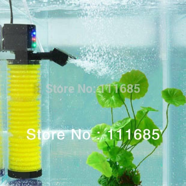Free Shipping High Quality 20W Aquarium Multi Function Filter Pump Fish Tank 2 Layers Filter Aquarium Internal Filter 1200L/H(China (Mainland))