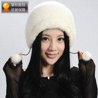 Marten cap fur hat 2013 genuine leather mink cap thermal cotton cap women's fedoras