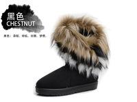 DHL Free shipping 10pcs/lot,2013 Han edition model,Sunday Angora Yarns,foxfeather,flat bottom,Tassel female SNOW boots.