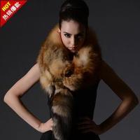 2013 fox fur muffler scarf female high quality fur scarf male skiing luxury