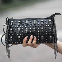 HOT Women Handbag NEW 2014 Dermis Wallet  Bag Skeleton Head Rivet handbag Women Wallet Shoulder bags Lady bags Free shipping