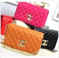 2013 spring and summer women bag plaid chain mini day clutch bag shoulder bag messenger bag handbag women's