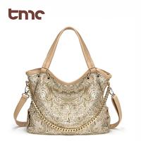 2013 women's handbag fashion paillette flower cutout lace women's shoulder bag
