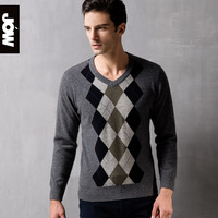 Jow men's sweater clothing yakwool cashmere wool knitted winter 2013 V-neck wool sweater