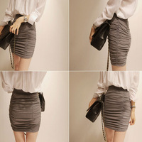 Summer women's 2013 wave all-match half-length pleated bag skirt sexy mini short skirt