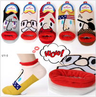 2013 Fashion Pirate Funny Face Sock Slippers Fashion Floor Candy Color Socks Free Shipping 10pairs/lot