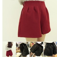 Free shipping. 2013 autumn excellent sidepiece zipper woolen shorts