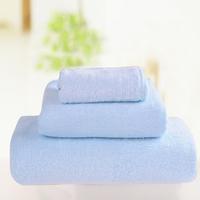 Waste-absorbing soft bamboo fibre bath towel squareinto three pieces set