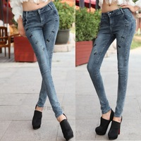 Free shipping. Female skinny jeans pants autumn plus size pencil pants women's long trousers