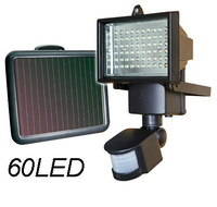 Solar LED Flood Security Garden Light with PIR Motion Sensor 60LEDs Solar Powered Panel Path Wall Spotlight Yard Shed Fence Lamp