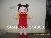 Adout mascot costume girl  Cartoon costume girl mascot Costume free shipping