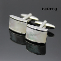 NEW Arrival Men's personal shirt cufflink shell fashion cuff with box men's gift bk01 Free shipping