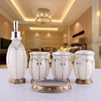 Luxury Bathroom Sets Home Product  Fashion wash   suite  5 pcs  of  quality      fashion   Christmas gift Wedding