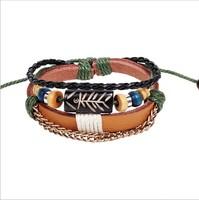 New 2014 Fashion Vintage indian jewelry fish bone bracelet primitive tribal beads accessories chain bracelets wholesale W2044