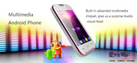 A109+ Android 2.3 Smart phone with 3.5 inch HVGA Screen Dual SIM MT6515 WiFi Dual Cameras Free shipping