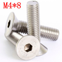 M4 X 8MM      A2 STAINLESS     DIN7991   COUNTERSUNK CSK SOCKET SCREW ALLEN KEY BOLTS SCREWS