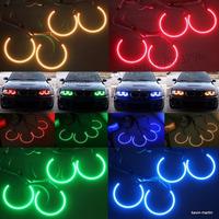 Free shipping  Multi-Color 5050 RGB Flash SMD LED ANGEL EYES HALO RINGS kit for BMW E36 E38 E39 E46